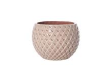 Kruka i rosa keramik