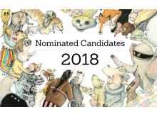 Nominees for Astrid Lindgren Memorial Award 2018