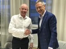 Rickard Westlund, vd LRF Konsult och Håkan Berg, Styrelseordförande Lexly