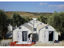 Better Shelter in Karatepe transit camp, Mytilini, Lesvos, Greece