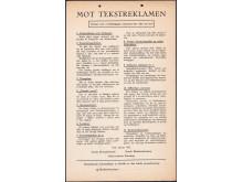 Tekstreklameplakaten anno 1933