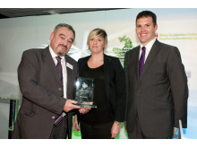Cris Tomos - Social Enterprise Champion with Kelly Davies (Viability) and Lee Waters IWA