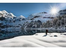 Schneeschuhwandern am Oeschinensee