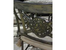 Close up of Luxor Armchair in Titanium