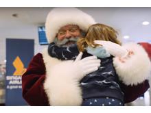 Juleoverraskelse i lufthavnen