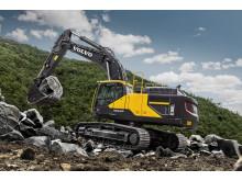 Volvo EC380E grävmaskin - stenbrott