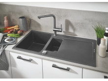 GROHE Kitchen Solutions Composite Sinks Granite Gray