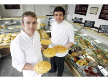 Peter and Joe Turner from Turner's Pies with their award winning pie