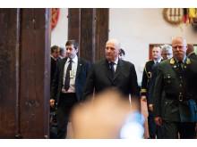 H.M Kong Harald under avdukingen av nye kongeportretter