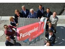 Die Organisatoren präsentieren das Programm zum 10. Passagenfest Leipzig - Foto: Isabell Gradinger