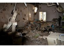 Operationssalen på sjukhuset användes när attacken inleddes den 3 oktober.