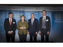 Angela Merkel och Stefan Löfven på German Swedish Tech Forum 1