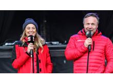 Marte Bratberg og Michael Andreassen på scenen