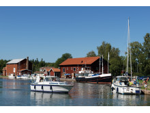 Pressbild - Göta kanal, gästhamnen i Lyrestad