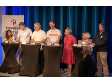 Hyresgästföreningen anordnade en bostadspolitisk debatt ledd av Sverker Olofsson.