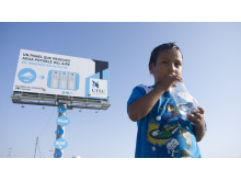 Skylten som utvinner vatten till Perus befolkning