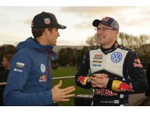 Sebastien Ogier Jari-Matti Latvala Rally GB 2015