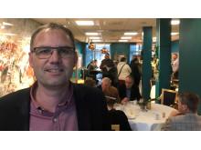 Under dagitaliseringsdagen deltog sex kommuner. I förgrunden: Mattias Olerot, e-strateg i Skara kommun.