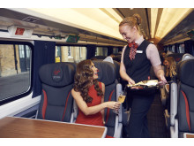 Myleene celebrates the completion of Virgin Trains' east coast fleet refurbishment programme with a touch of 'Klass'
