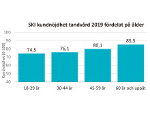 SKI Tandvård 2019 fördelat på ålder