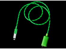 USB-kabel med synlig ström, högupplöst