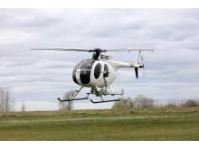 Helikopter som vil bli brukt under linjebefaring.