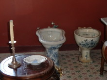Toalett på Slottet Sintra  i Portugal.