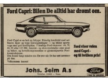 Ford Capri reklame Norge, Mk1