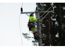 E.ON sparar inga resurser när det gäller att återställa elnätet efter stormen Ivar