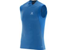 Salomon Trail Runner sleeveless tee M, union blue