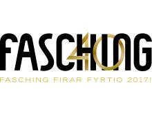 Fasching firar 40 år logotyp