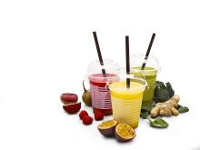 Gruppbild på smaker av 7-Eleven Juicing