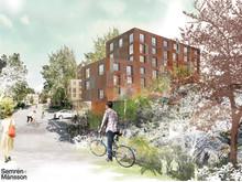 Förslag studentbostäder, KTH, Stockholm: Einar Mattsson och Semrén & Månsson