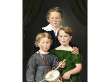 C.A. Jensen: Hans og Bolette Puggaards tre børn. 1827. Signeret. Olie på lærred. 82 x 64 cm. Vurdering: 400.000-600.000 kr.