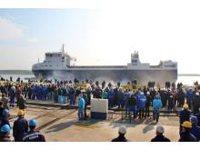 Sjösättning m/s Sigrid 25 oktober 2012