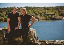 Göran Adlén och Janne Schaffer på Högberga Gård