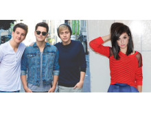 Pressebillede: Before You Exit og Christina Grimmie