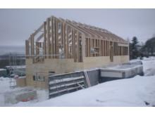 Villa Kännåsen - passivhus med I-balk