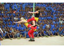 Bild från Clowner utan Gränsers turné i D.R. Kongo och Rwanda 2013