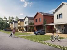 Brf Björnö Vik 2 - 3D-bild av de fristående husen