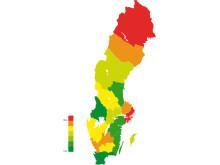 Regionkarta: Ökat uttag av skatter