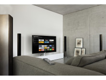 The Loewe Smart tv2move feature allows you to transfer the current television programme – or even a programme on a different channel - to a tablet computer or smartphone.