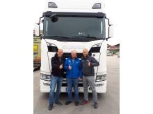Fahrtraining mit Holger Maier (li.) und René Seckler (re.)