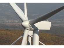 Onshore wind turbines in Marsanne, France