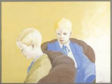 Olli Lyytikäinen, Porträtt av pojkarna / Portrait of the Boys, 1971. Gouache och färgpenna / Gouache and colour pen