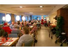 Julestemning i caféen på Lokalcenter Bøgeskovhus