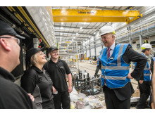 Secretary of State for Transport Chris Grayling MP at Newton Aycliffe talking to apprentices