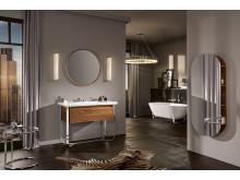 Filigree shapes for lightness and elegance in the bathroom