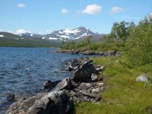 Utsikten från STF Fjällstuga Tärnasjö