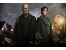 Kurt Kragh og Marie Louise Toksvig i 'Blodspor' på Kanal 5